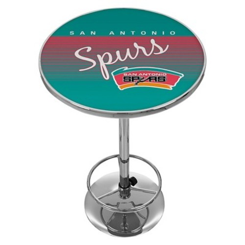 San Antonio Spurs Hardwood Classics Chrome Pub Table