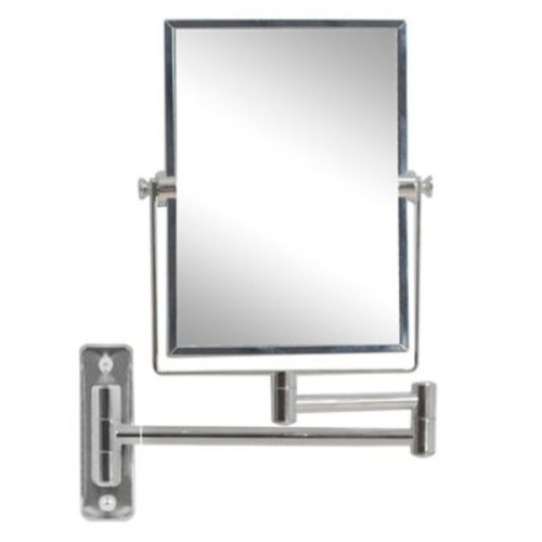 Red Barrel Studio Rectangle Brass-Mirror Wall Mount Magnifying Wall Mirror