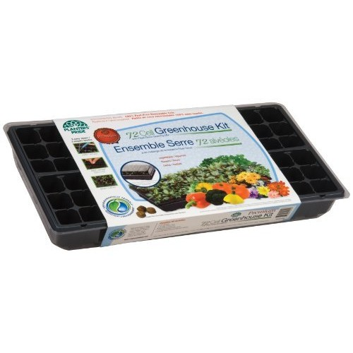 Planters Pride RZA0809 72 Cell Seed Starter Greenhouse Kit