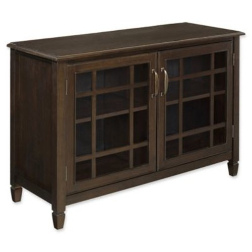 Simpli Home Connaught 46-Inch Cabinet in Dark Chestnut Brown