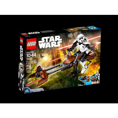 LEGO Constraction Star Wars Scout Trooperu0026#8482; u0026 Speeder Bikeu0026#8482; #75532