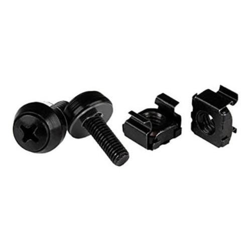 Startech Screws & Cage Nuts - 50 Pack, Black Cabscrewm5b