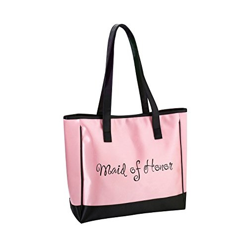 Lillian Rose Pink Maid of Honor Tote Bag Wedding Party Gift [Pink]