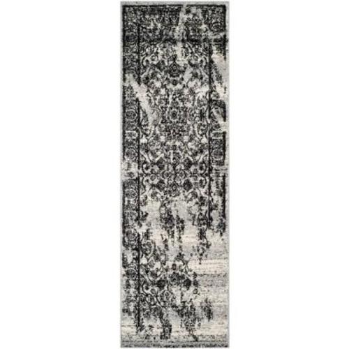 Safavieh Adirondack Silver/Black 2 ft. 6 in. x 16 ft. Runner