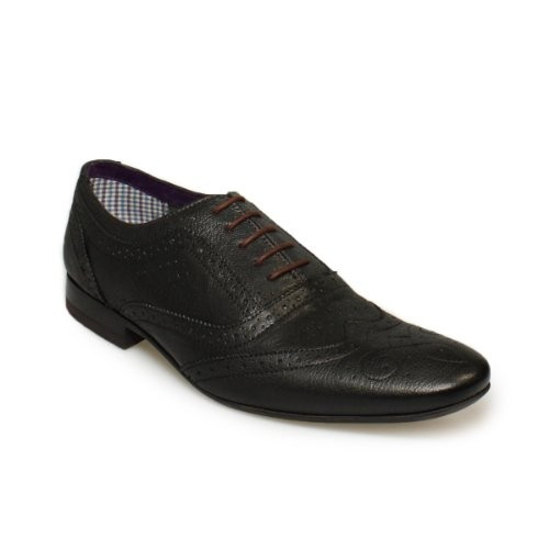 Ted Baker Cirek Black Leather Brogue Shoes-UK 11