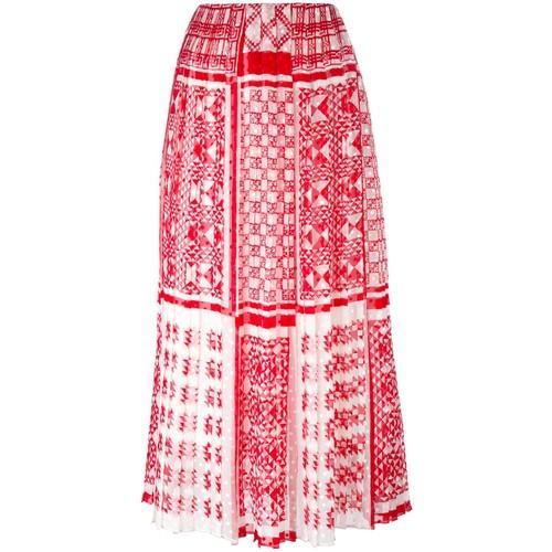 FENDI Foulard-Print Plumetis-Chiffon Maxi Skirt