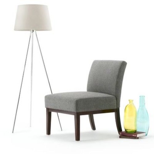 Simpli Home Upton Accent Chair in Slate Grey (AXCCHR-007-SLG)