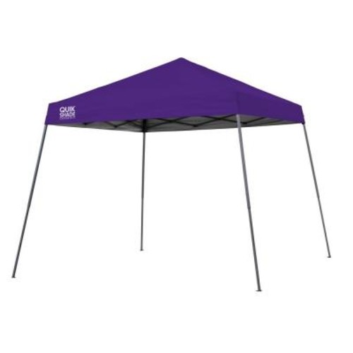 Quik Shade Expedition Team Colors 10 ft. x 10 ft. Purple Slant Leg Instant Canopy