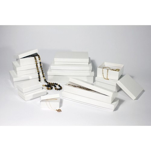 Boxit White Krome Jewel Box, 2 1/2