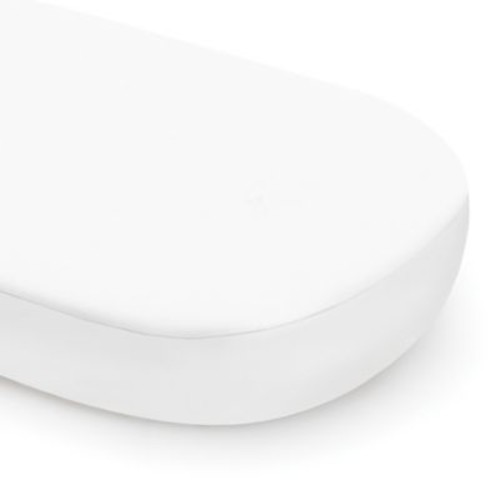 Babyletto Oval Fitted Crib Sheet in White