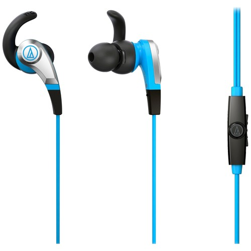 Audio-Technica - SonicFuel In-ear Headphones with In-line Mic & Control - Blue