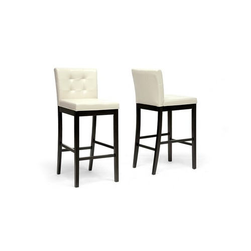 Baxton Studio 'Prospect' Cream Modern Bar Stool (Set of 2)
