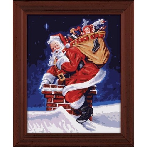 Plaid Creates Paint by Number Kit (16 by 20-Inch), 21698 A Visit From Santa
