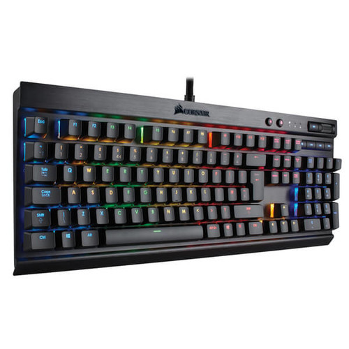 Corsair Gaming K70 Cherry MX Red Performance Multi-Colour RGB Backlit Mechanical Gaming Keyboard - Black PC Accessories