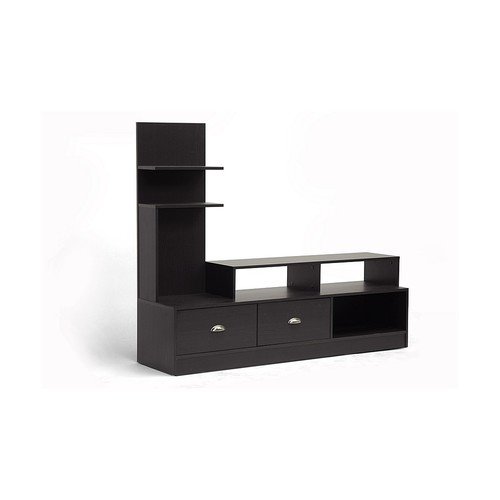 Baxton Studio TV Stands & Entertainment Centers Armstrong Dark Brown Modern TV Stand