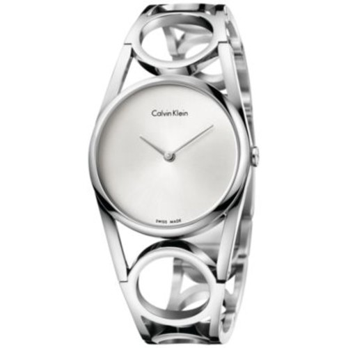Calvin Klein Women's Swiss Round Stainless Steel Bracelet Watch 34mm K5U2M146