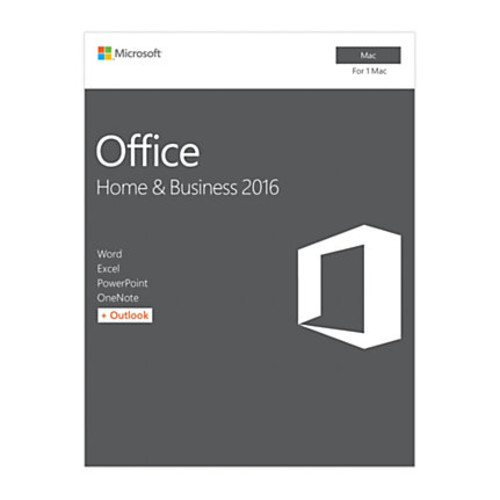 Office Home & Business 2016 For Mac, 1 Mac, Product Key Card