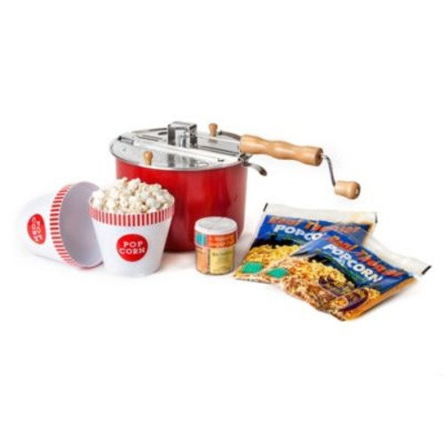 Whirley Pop Old Fashioned Popcorn Maker Color Changing Movie Night Set