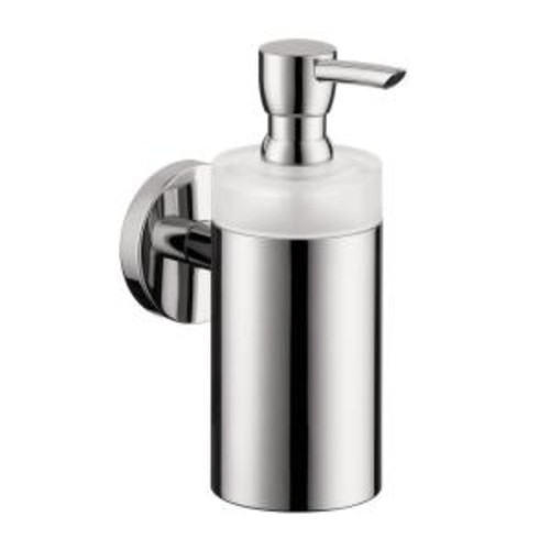 Hansgrohe Wall-Mount Brass and Plastic Soap Dispenser in Chrome
