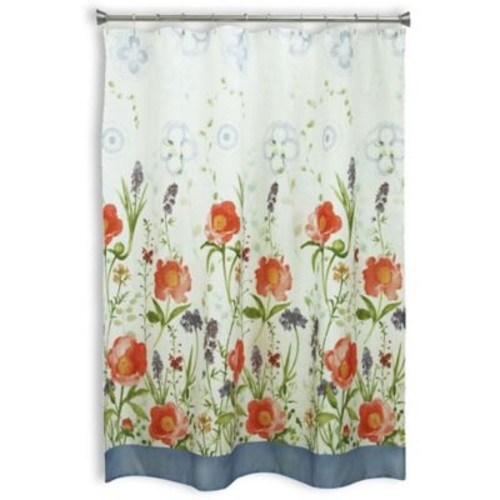 Bacova Merry May Shower Curtain in Coral/Ivory
