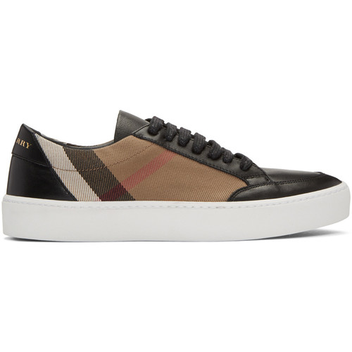 BURBERRY Black Salmond Check Sneakers