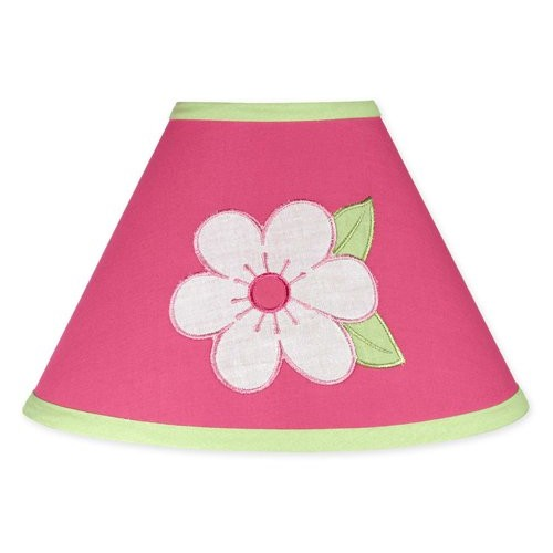 Sweet Jojo Designs Pink and Green Flower Collection Lamp Shade