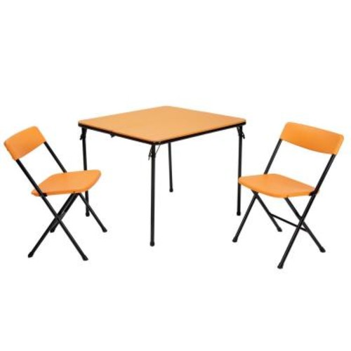 Cosco 3-Piece Orange Folding Table and Chair Set