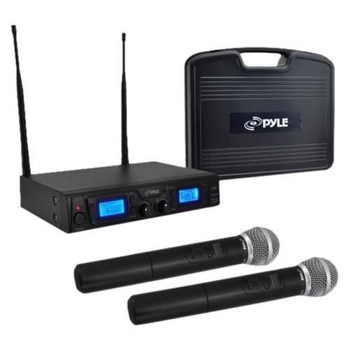 PYLE - PylePro Wireless Microphone System - Black