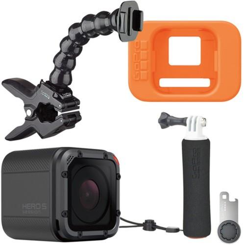 GoPro - Boating Bundle - HERO5 Session 4K Action Camera, Floating Hand Grip, Jaws Clamp Mount & Flotation Device
