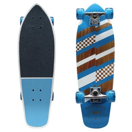 Kryptonics 27 inch Metal Flake Mini Cruiser Skateboard - Finish Line
