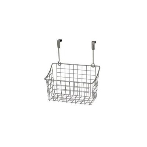 Spectrum Grid 10.125 in. W x 6.625 in. D x 11.25 in. H Over the Cabinet Medium Basket in Satin Nickel Powder Coat