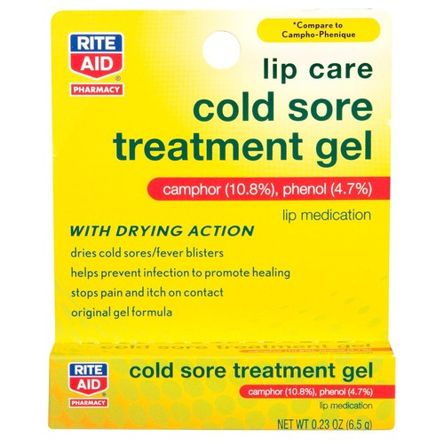 Rite Aid Lip Care Cold Sore Treatment Gel, 0.23 oz, 1 Count