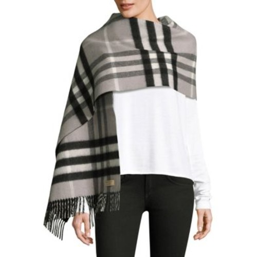 BURBERRY Wool And Cashmere Oversized Plaid Scarf