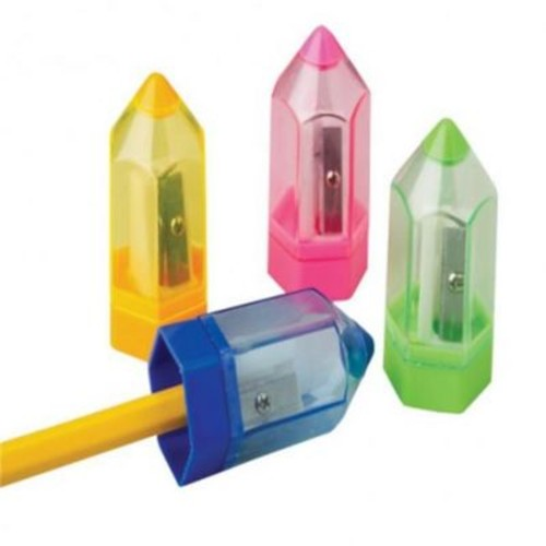 US Toy 24 Piece Pencil Shape Sharpeners - 5 Per Boxes (USTCYC174914)
