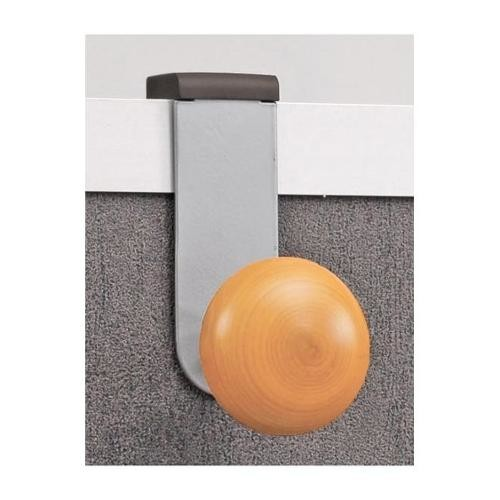 Over-The-Panel Single Coat Hook in Silver