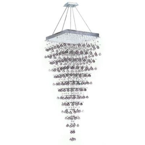Worldwide Lighting Icicle 10-Light Polished Chrome and Clear Crystal Chandelier