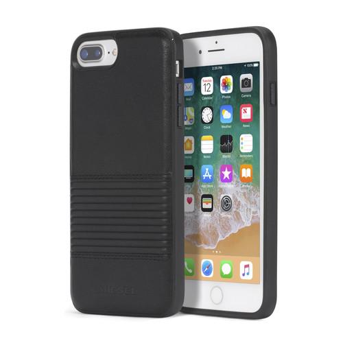 BLACK LINED LEATHER IPHONE 8 PLUS/7 PLUS/6s PLUS/6 PLUS CASE