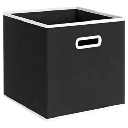 Varick Gallery Elwell Fabric Storage Bin; Black