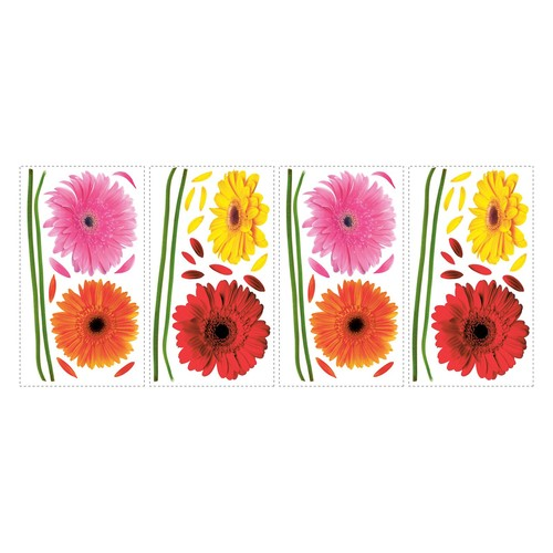 RoomMates Small Gerber Daisies Peel-and-Stick Wall Decals