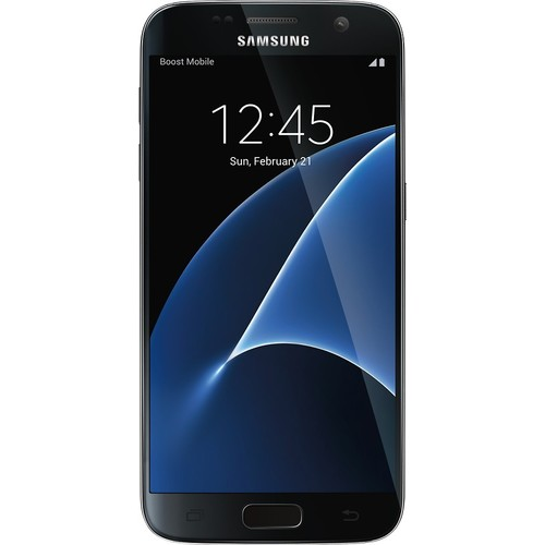 Boost Mobile - Samsung Galaxy S7 4G with 32Gb memory Prepaid Cell Phone - Black Onyx