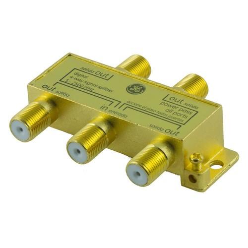 GE Pro Digital 4-Way Coaxial Splitter