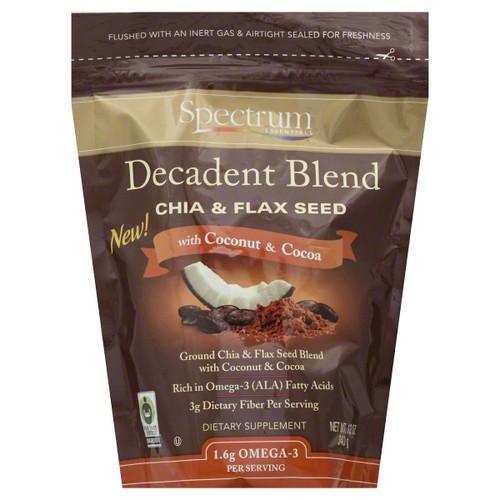 Spectrum Essentials Decadent Blend Chia & Flax Seed Dietary Supplement, 12 oz
