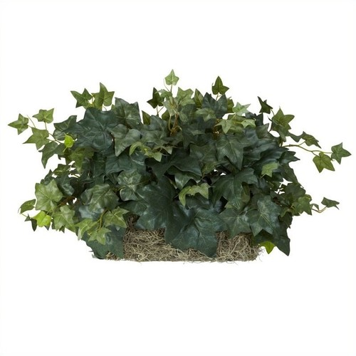 Nearly Natural Ivy Ledge Plant Silk Plant in Green