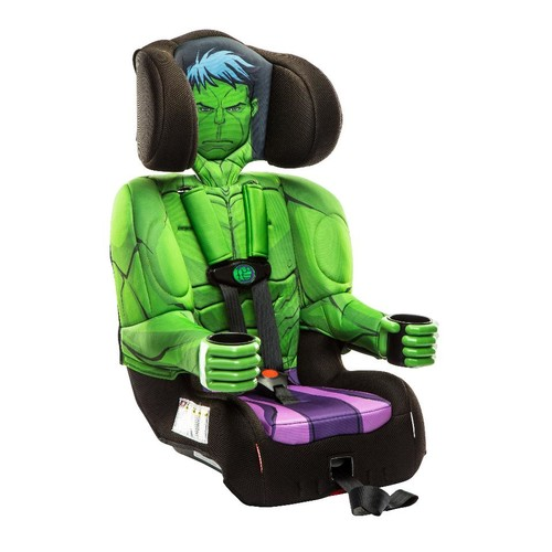 KidsEmbrace Friendship Combination Toddler Harness Booster Car Seat - Marvel Avengers Incredible Hulk