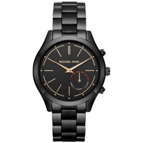 Michael Kors Access Women's Slim Runway Hybrid Black Ion-Plated Stainless Steel Bracelet Smart Watch 42mm MKT4003