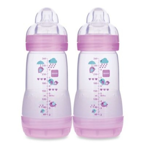 MAM 2-Pack 9 oz. Anti-Colic Bottle in Girl