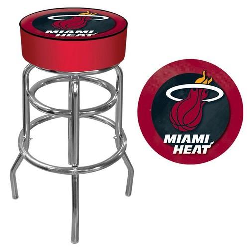 NBA(CANONICAL) Miami Heat Padded Swivel Bar Stool