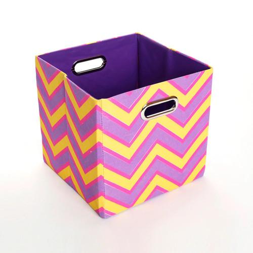GiggleDots Color Pop Zigzag Folding Storage Bin
