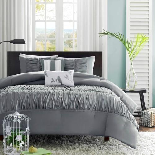 Colormate 5-Piece Mirimar Comforter Set - Gray