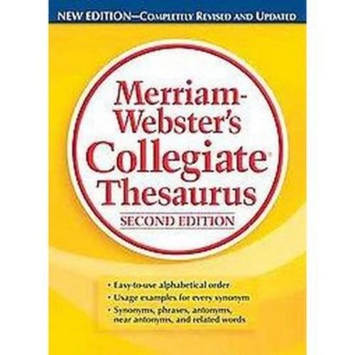 Merriam-Webster's Collegiate Thesaurus (Indexed) (Hardcover)